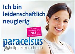 Werbeanzeige Paracelsus Schulen Zürich.
